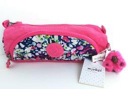 Kipling Cute Pen Pencil Case Make-up Cosmetic Bag Brushed Fl