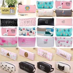 Cute Pencil Case Pen Pouch Box Bag Cases School Office Suppl