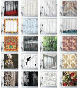 Ambesonne Decorative Bathroom Cloth Shower Curtain Waterproo