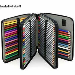 BTSKY Deluxe PU Leather Pencil Case Colored Pencils - 120 Sl