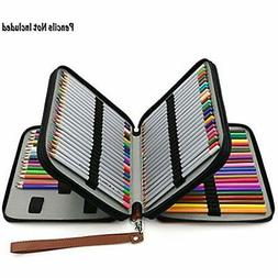 Deluxe PU Leather Pencil Holders Case Colored Pencils - 120