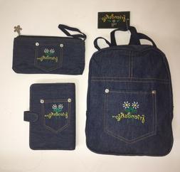 Denim Kids Mini School Backpack, Day Planner Organizer & Pen