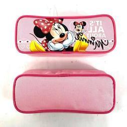 Disney Minnie Mouse Light Pink Color Pencil Case Pencil Pouc