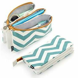 EASTHILL Pencil Pouch High Capacity Pencil Case 3 Pockets Pe