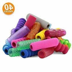 Emraw Soft Foam & Squishy Gel Pencil Grips Assorted Colors K