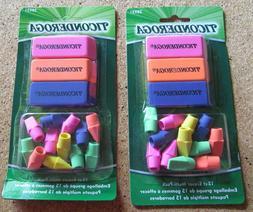 Eraser Multipacks Chubs & Pencil Tops Ticonderoga 2-15 Ct Pa
