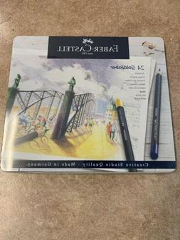 Faber-Castell 24 Goldfaber Color Pencils In A Tin BRAND NEW