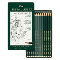 Faber-Castell 9000 Graphite Pencils 12-Pack w/ Metal Storage