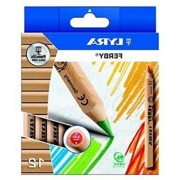 Lyra Ferby Half-Size Colouring Pencils Natural Wood Finish P