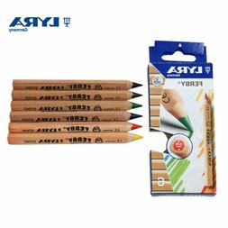 Lyra Ferby Half-Size Colouring Pencils - Natural Wood Finish