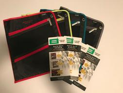 Mead Five Star Pen Pencil Case Zippered 3 Compartment Pocket
