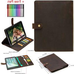 Flip Multifunction Genuine Leather Case Cover Stand Fr iPad