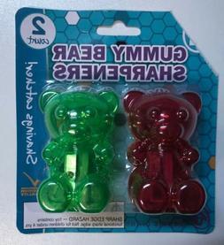 Gummy Bear Pencil Sharpeners- 2 Pack