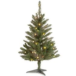National Tree  Kingswood Fir Wrapped Pencil Tree with 50 Cle