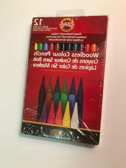 Kohinoor Koh-I-Noor Woodless 12 Color Pencil Set Fa8756.12