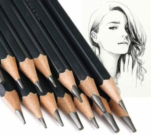 12 Pcs Art Drawing Graphite Charcoal