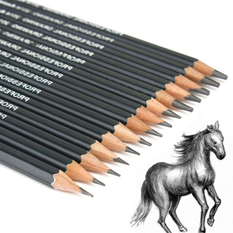 14pcs Artists Pencil 12B-6H Art