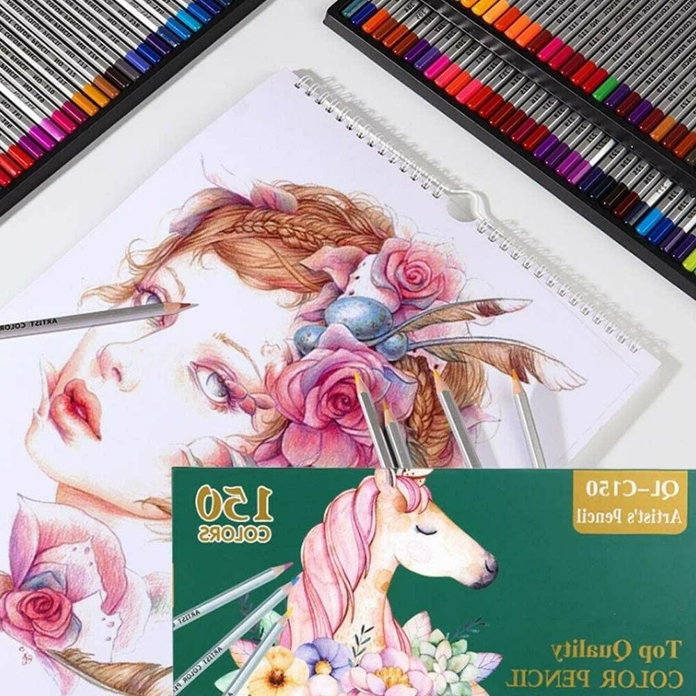 150 choice premier colored pencils set professional