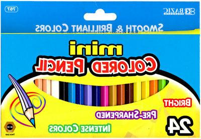 24 mini colored pencil case pack 24