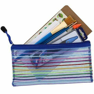 24-Pack Mesh Pencil Pouch Holder School Home
