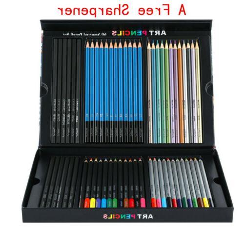 60pc art supplies lot colored pencils professional