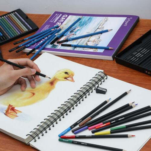 60pc Colored Pencils Professional Set Sketching