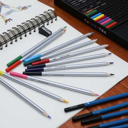 60pc Art Supplies Colored Pencils Set Sketching Kit