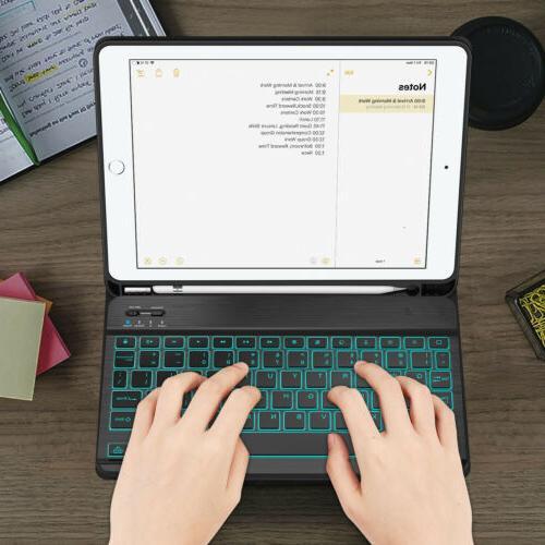 7 Color Keyboard Case for Gen 10.2'' 2019 Pencil Holder