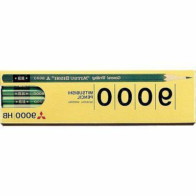 9000 hb wood cased pencils 12 piece