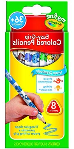 Crayola My First Easy-Grip Colored Pencils, 8 Non-Toxic, Eas