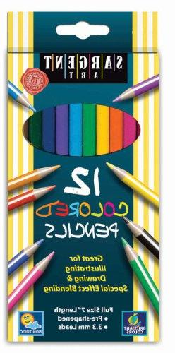 Sargent Art 22-7212 12-Count Assorted Colored Pencils