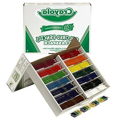 Crayola BIN8462 Colored Pencil Classpack, 14 Colors, 462 Cou