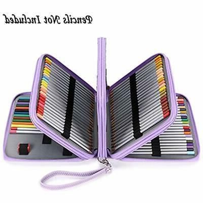 BTSKY160 Slots Colored Pencil Case- Deluxe PU Leather Handy