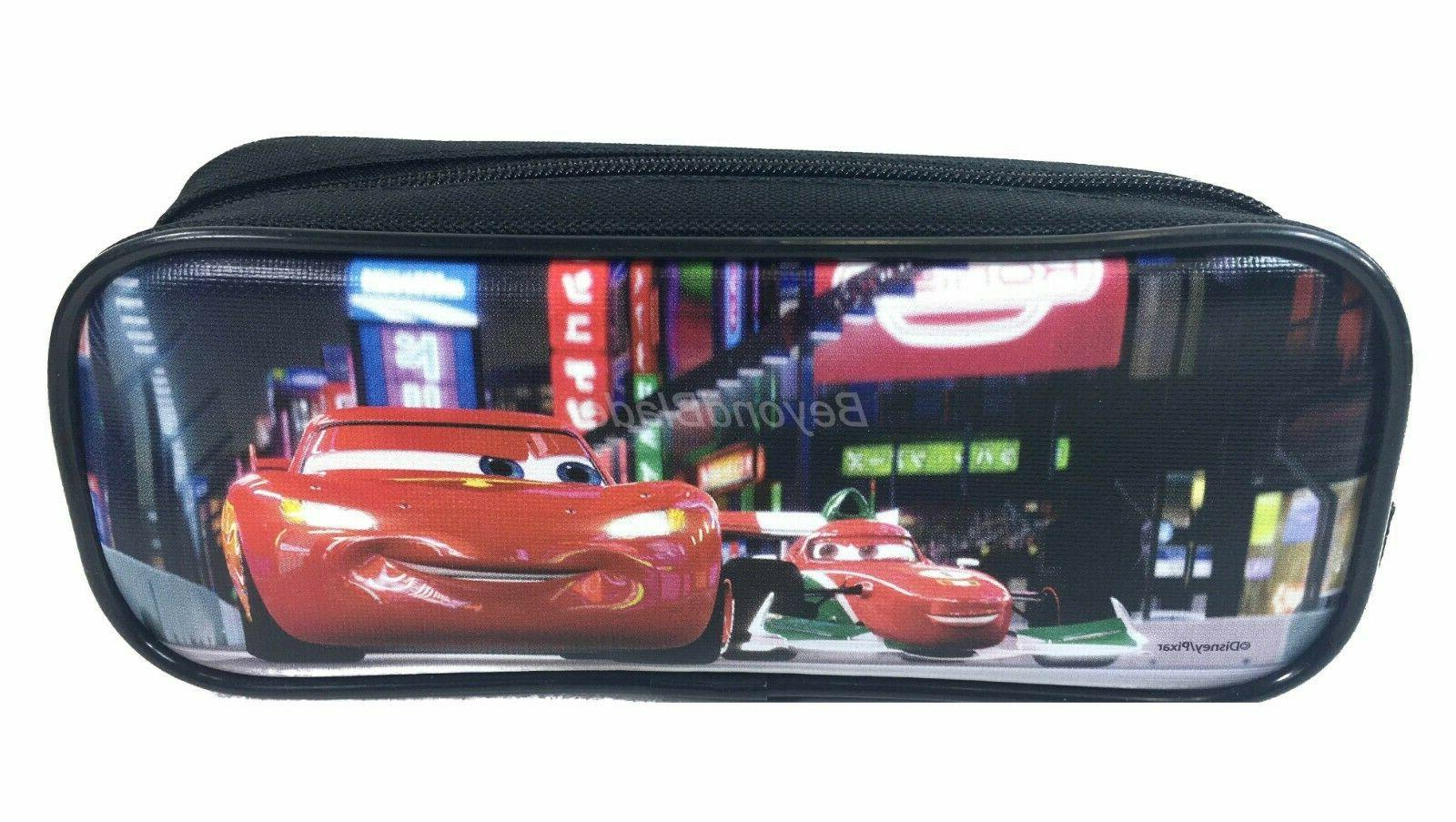 Disney Cars Pencil Pouch Zippered Pencil Case Authentic Bag