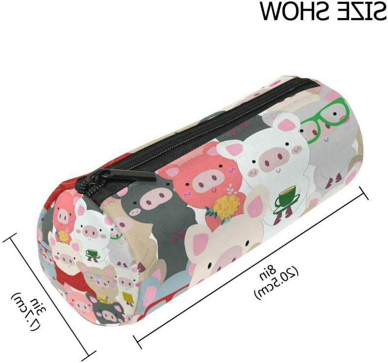 Alaza Cartoon Grey Animal Case Pouch Bag With Zipper For Sch