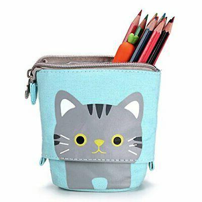 BTSKY Cute Pen Pencil Case- Pencil Holder Pen Organizer