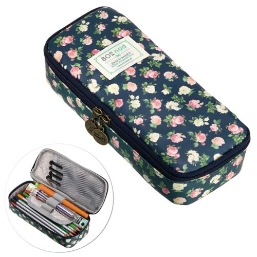 BTSKY Cute Pencil Case - High Capacity Floral Pencil Pouch S