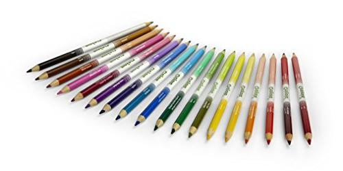 Crayola Dual-Ended 36 Colors + Sharpener Art Compact Pencil for Coloring or 4 Up, Great Gradation, More