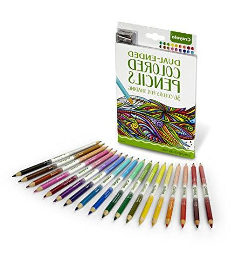 Crayola Colored Pencils, 36 Colors Sharpener Premium Art Tools, Compact for Adult or 4 & Up, Great Gradation, Art More