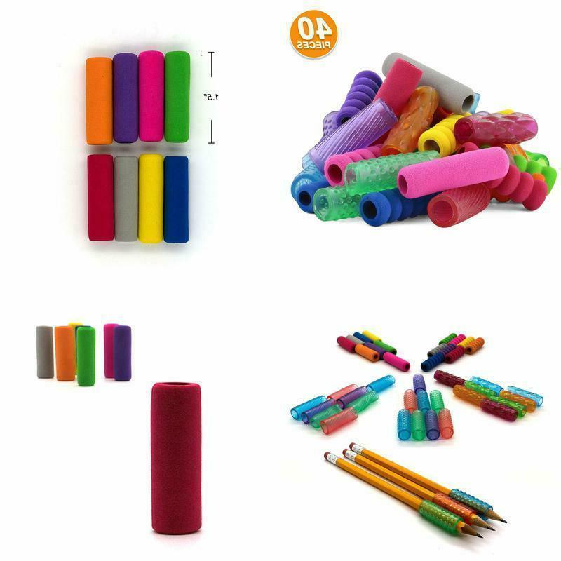 Emraw Gel Pencil Grips Assorted Colors Kids Pen