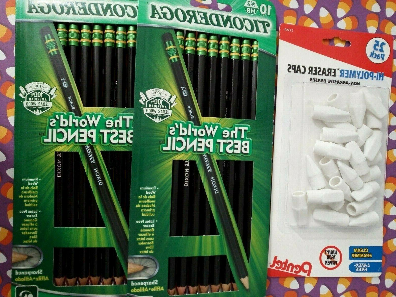 Pentel Caps 25ct Ticonderoga Pencils