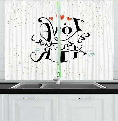 love kitchen curtains 2 panel set window