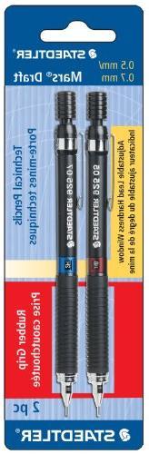 Staedtler Mars Draft Tech Pencil, 4H/3H/2H/H/F/HB/B, 0.5/0.7