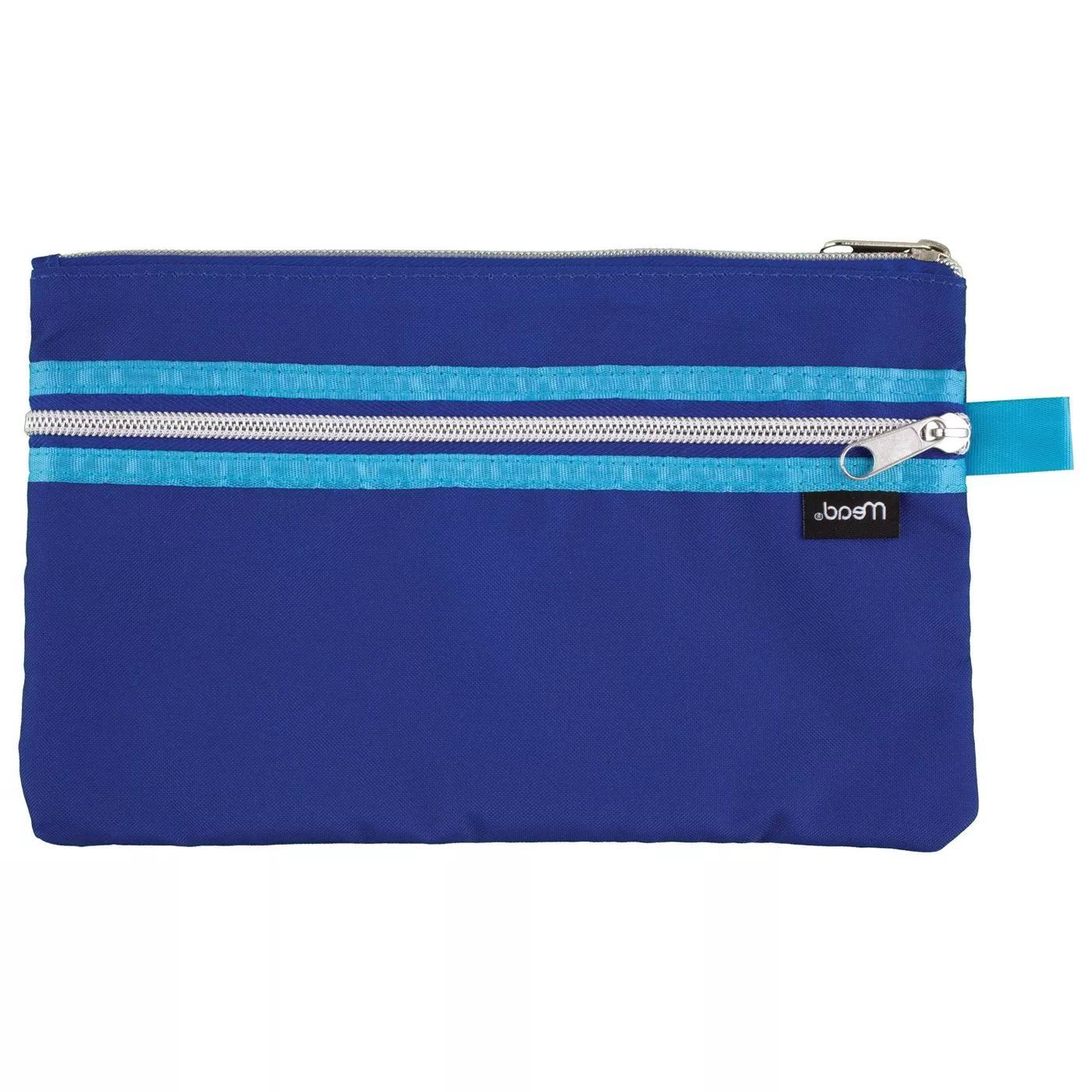 mead 2 zipper wr focal pencil pouch