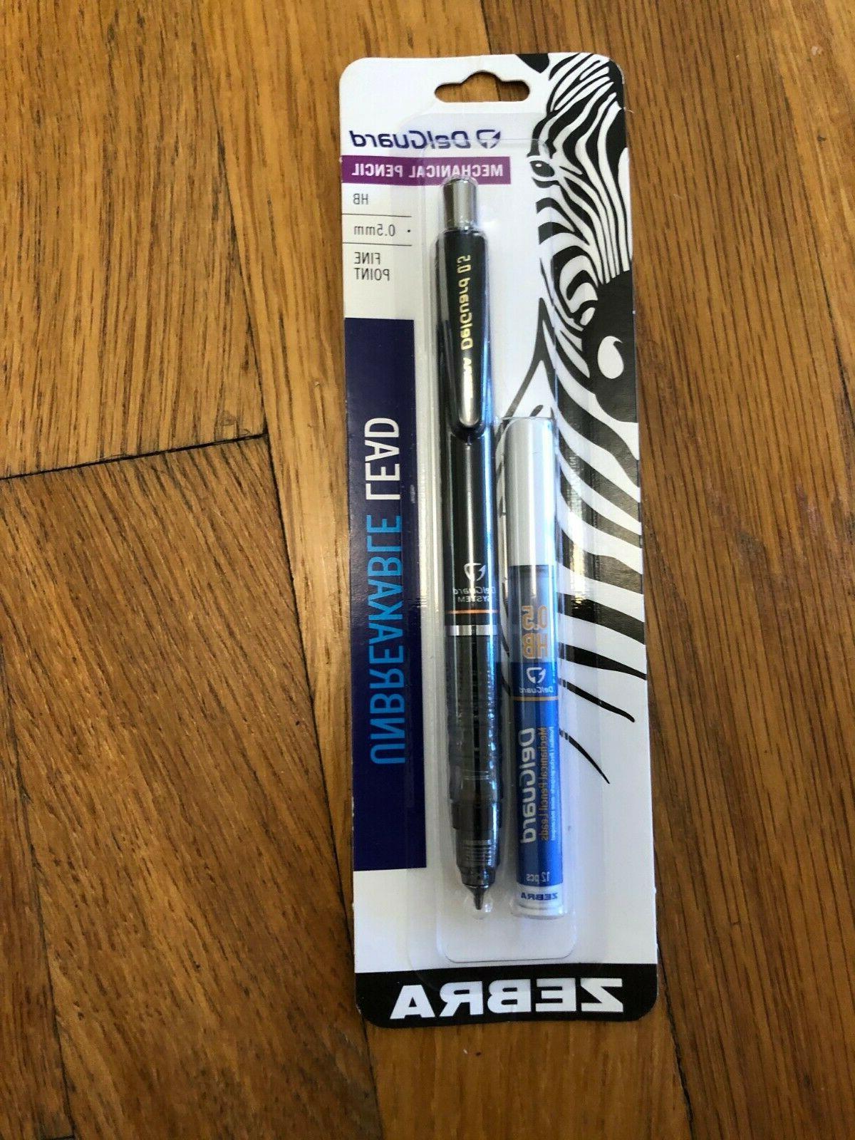 Mechanical Pencil, 0.5 mm, Unbreakable Lead, Black