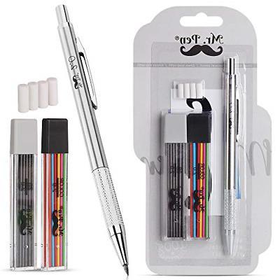 mr pen mechanical pencils 2mm metal mechanical
