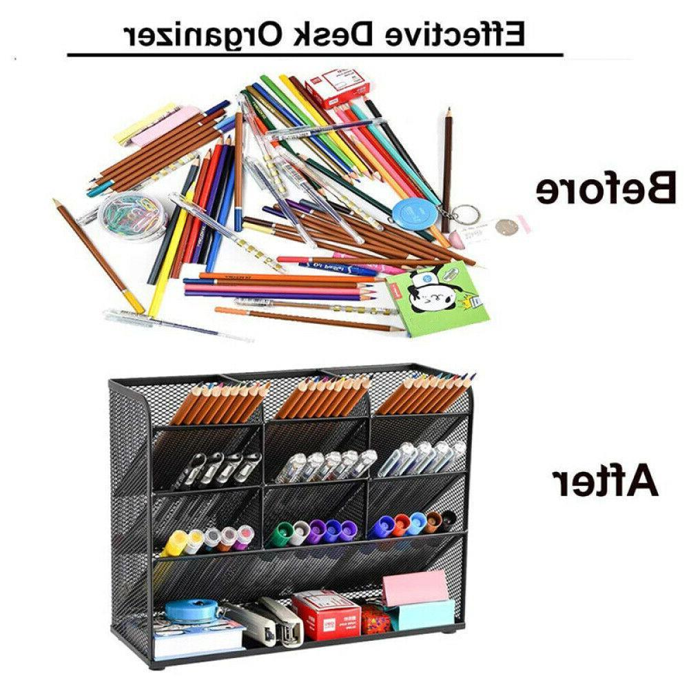 Pen Large Mesh Pencil Marker Organizer for