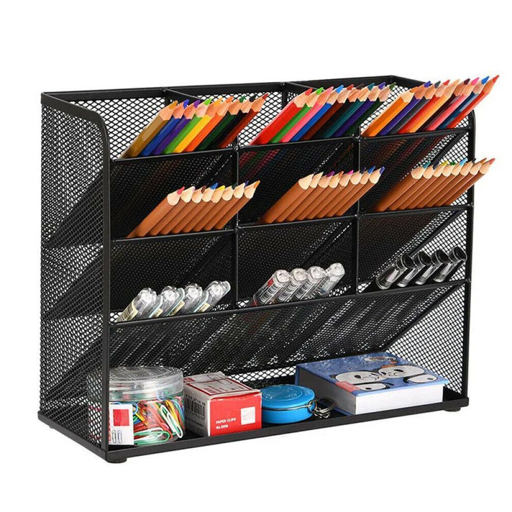 Pen Holder Mesh Pencil Marker Organizer for Desk