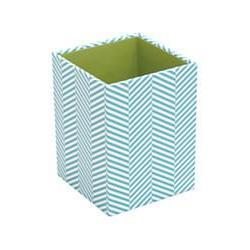 See Jane Work Pencil Cup, 3in.H x 3in.W x 4in.D, Blue Herrin