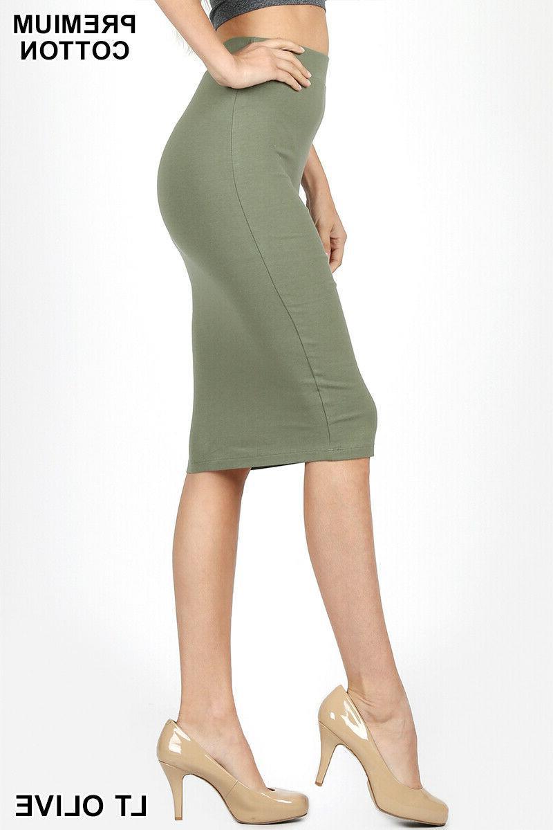 Zenana Bodycon High Stretch Cotton S M L